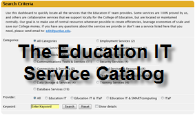 The Education IT Service Catalog